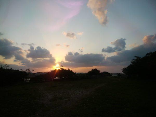 三重城の夕陽